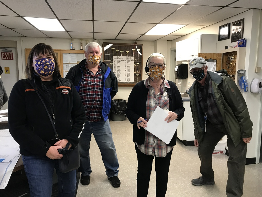 Transportation staff with Halloween Masks