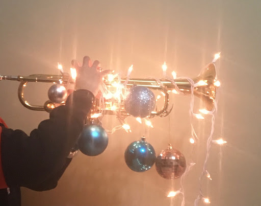 Trumpet decorated